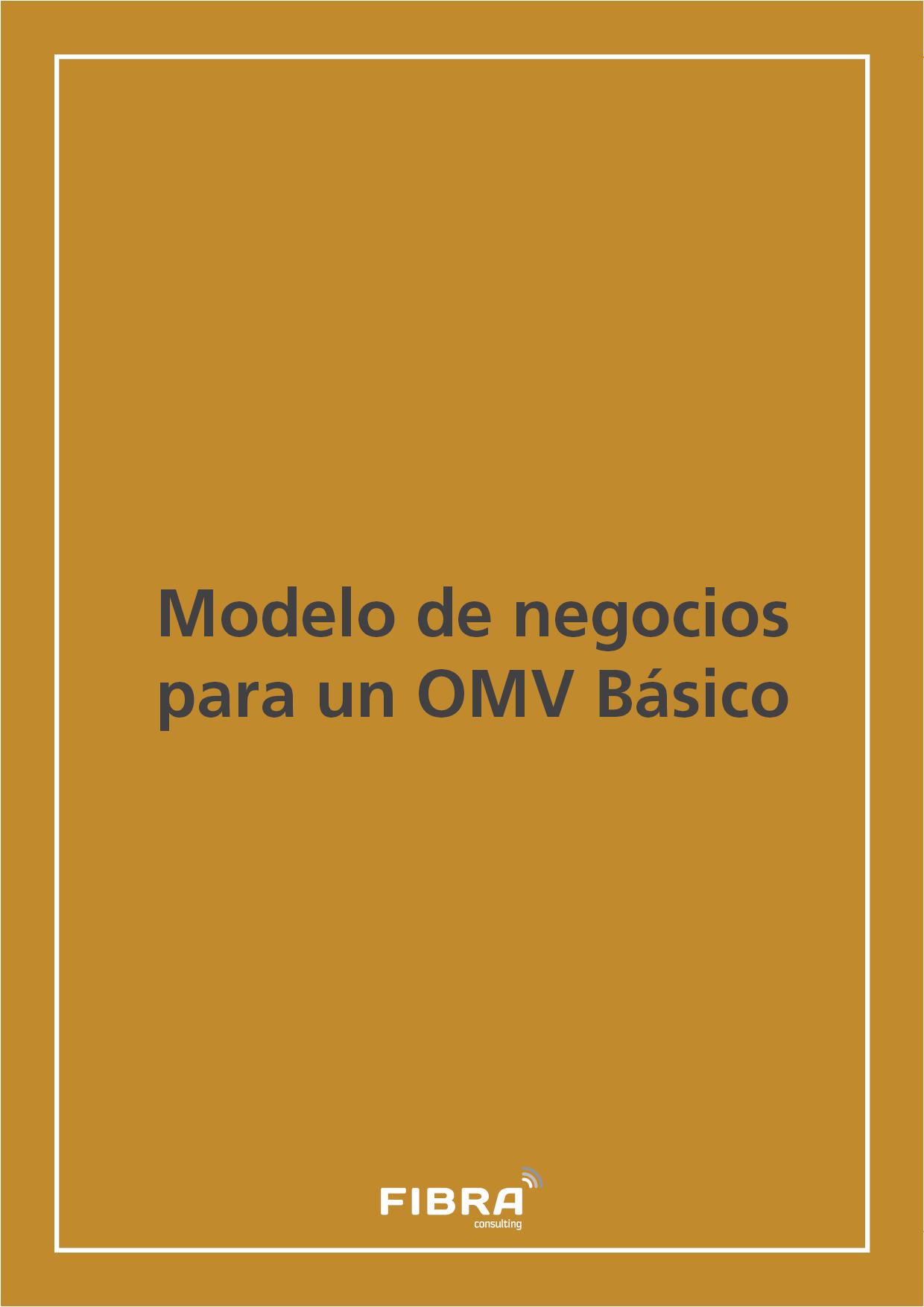 Modelo de negocios para un OMV Básico